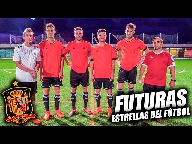 TIRANDO FALTAS con FUTURAS ESTRELLAS del FÚTBOL ft. SELECCIÓN ESPAÑOLA