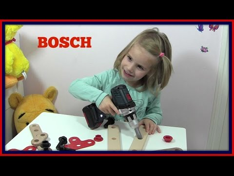 bosch akkuschrauber bohrmaschine f r kinder review vorf hrung youtube. Black Bedroom Furniture Sets. Home Design Ideas