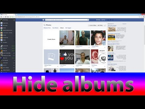 How to hide photos (album pictures) from Facebook public - tutorial