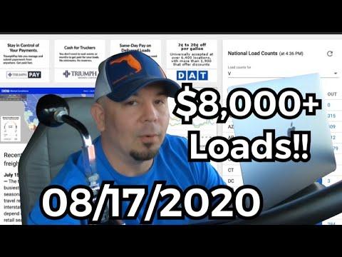 $8,000 Freight loads!!!   Spot Market on FIRE!! DAT TruckersEdge Pro
