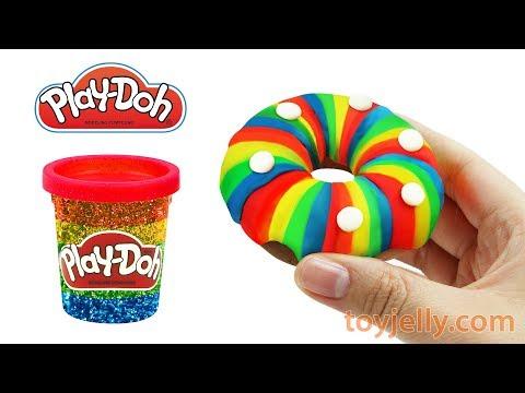 How to Make Play Doh Rainbow Doughnut Learn Colors Creative & Fun for Kids Kinder Joy Surprise Eggs