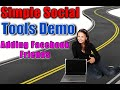 Simple Social Tools Demo (Review) Adding Facebook Friends