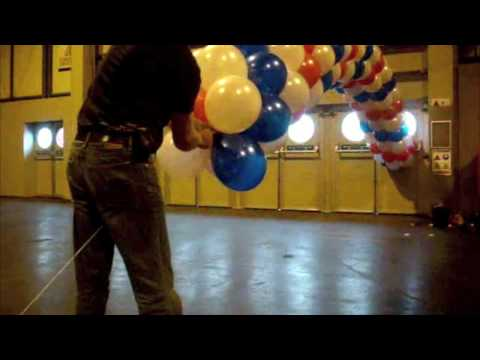 How to make a balloon arch youtube for Balloon arch no helium