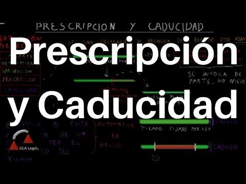Prescripción y Caducidad. DERECHO CIVIL