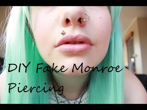 Diy Fake Madonna Monroe Piercing Youtube