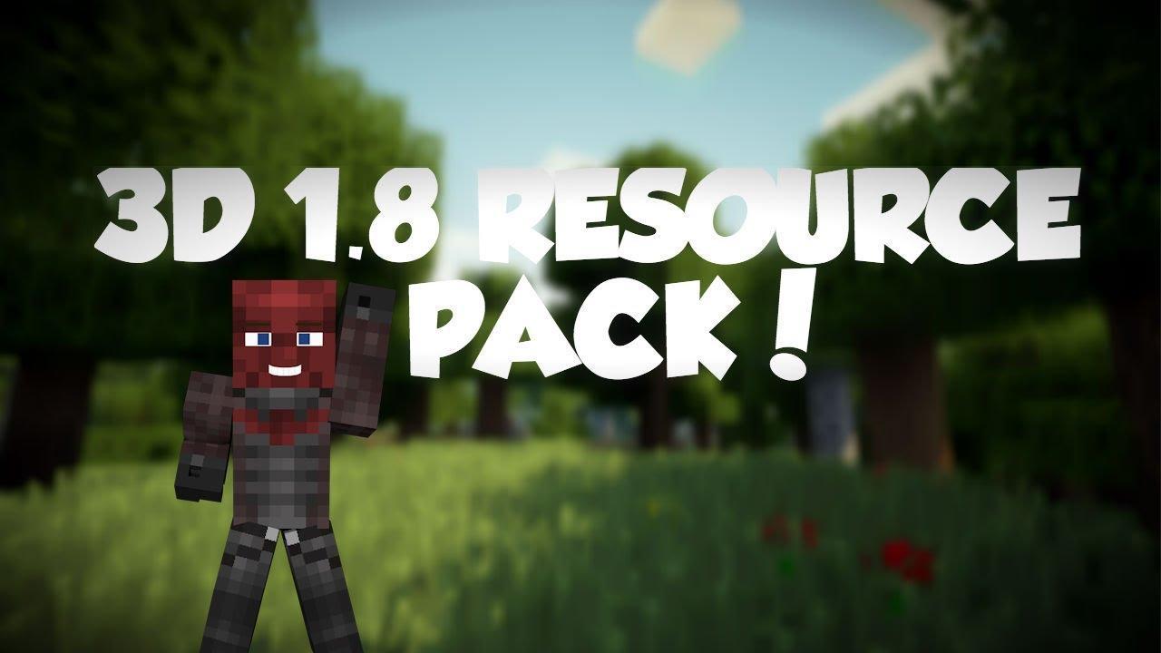 Minecraft: 1 8 3D Textures Resource Pack! Download Link in the Description!