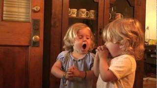 Adorable Lord's Prayer - Funny Angus Twins