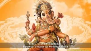 Shree Ganesha Bhakthi Geethe in Kannada - Heramba Ambaasuta