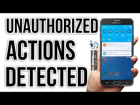 Unauthorised actions have been detected restart your device to undo any unauthorized changes Review