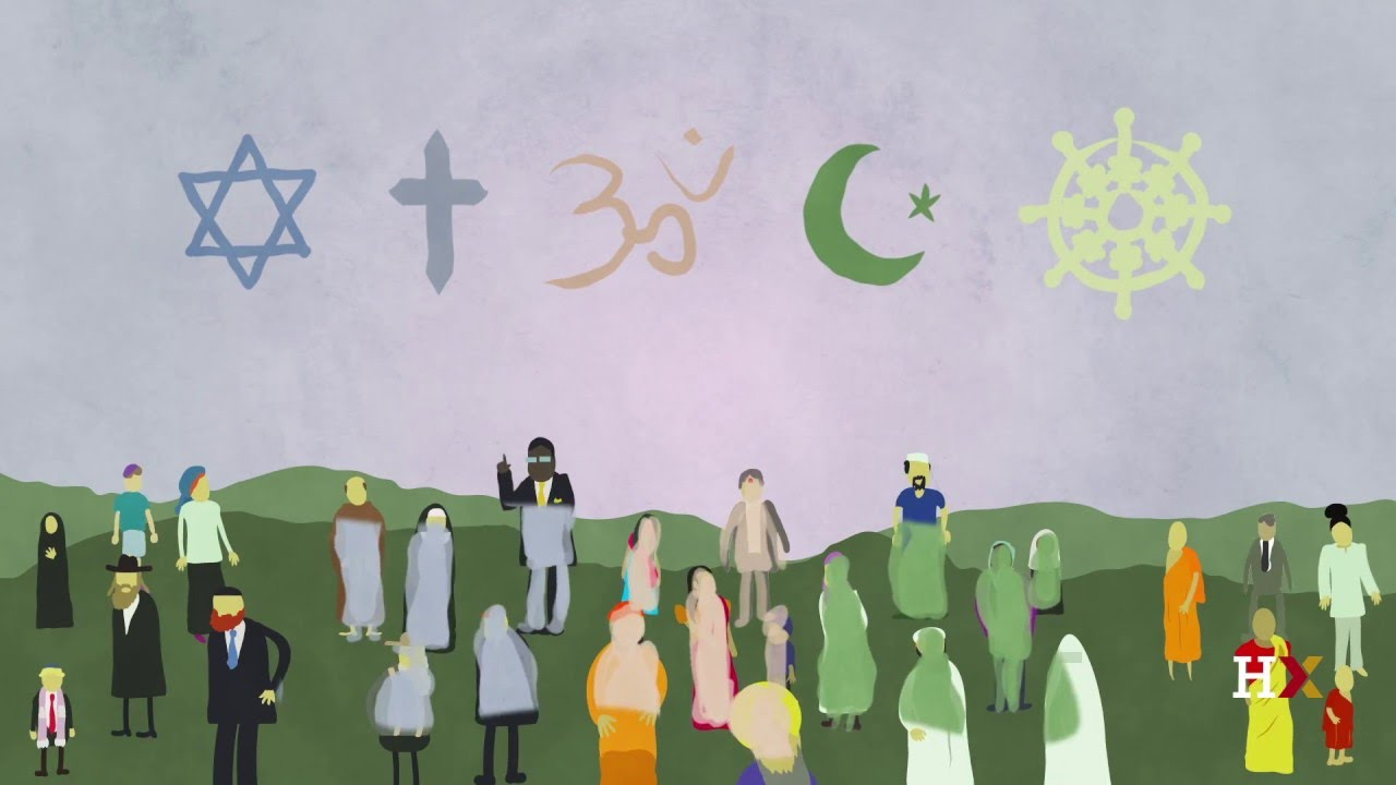These are different symbols representing different religions.