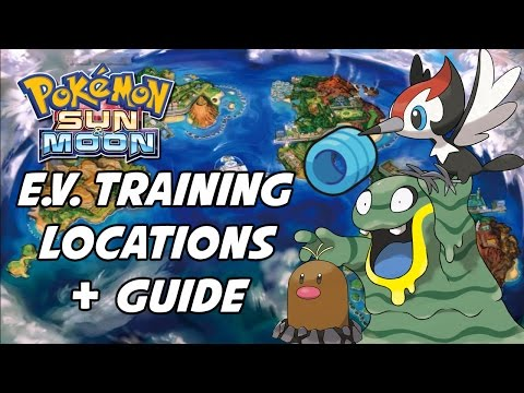 Pokemon Sun and Moon EV Training Guide! Best Places to EV Train in Pokemon Sun and Moon