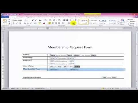 How to create fillable forms in Word