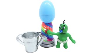Green Baby learn colors animated clay character for Kids