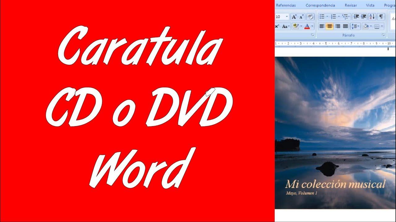 Como hacer la caratula de un CD o DVD en word 2007 2010 - YouTube