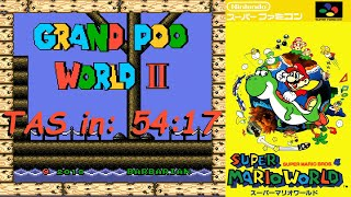[TAS] Grand Poo World 2 (SMWHack) All Exits True Ending + Luigi in 54:17 [720p]