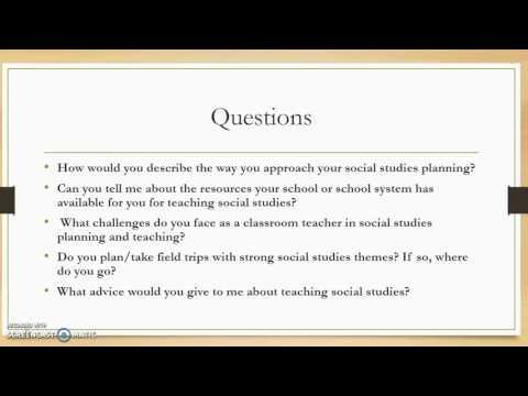 Social Studies Teacher Interview