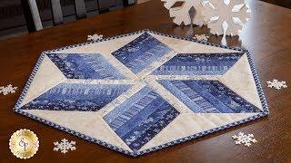 How to Use tнe 60º Diamond Ruler to Make a Table Topper   Shabby Fabrics Tutorials