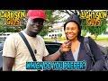 Dark Skin Guys Vs Light Skin Guys - Which Do You Prefer? (Public Interview)   Prank Africa
