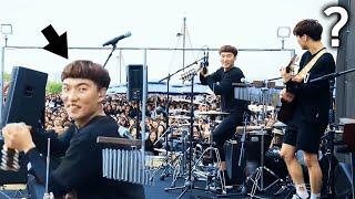 의외의 신들린 드럼에 놀란 관객들 ㄷㄷ (윤딴딴 - 친하게지내자 라이브 직캠) [자막]