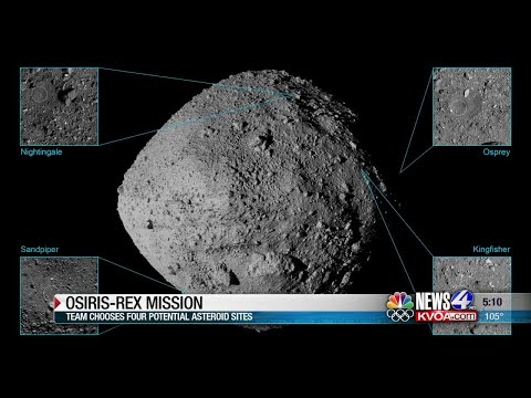 NASA chooses four potential asteroid sample sites for OSIRIS-REx mission