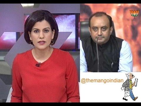 BJP's Sudhanshu trivedi brilliantly shuts NDTV anchor Nidhi Razdan!