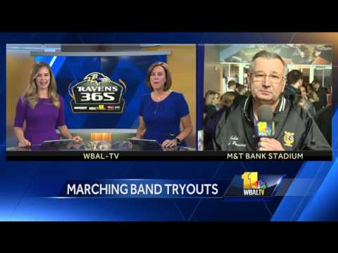 Video: Marching band tryouts for Ravens