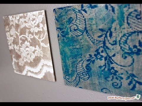 Diy Easy Water Color Lace Art Youtube