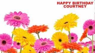 Courtney - flowers - Happy Birthday