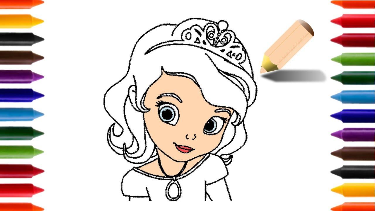 Aprendendo A Desenhar E Colorir A Princesa Sofia Animacoes E
