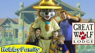 Candy Quest at Great Wolf Lodge! Vacation + Hotel Texas Fun HobbyKids Trip HobbyFamilyTV