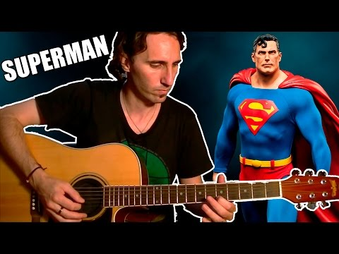 How To Play Superman Theme Song: Easy Acoustic Guitar Tab Lesson TCDG