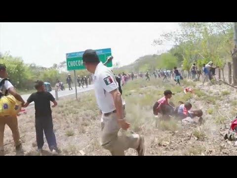 شاهد: الشرطة المكسيكية تعتقل مئات المهاجرين القادمين من أمريكا الوسطى…  - 10:53-2019 / 4 / 23