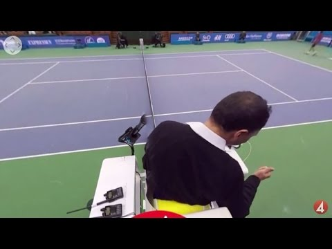 Tennis referee in 360/VR (If Stockholm Open)
