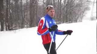 Беговые лыжи. Урок 4. Обучение коньковому ходу на лыжах.Видео предоставлено каналом Veryvery.ru