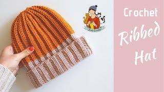 Crochet Ribbed Hat / Beginner Friendly Tutorial