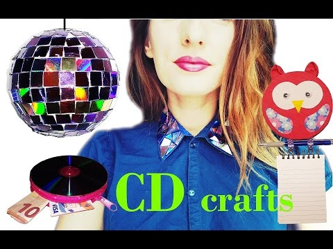 10 DIY creative ways to reuse / recycle your old CDs / DVDs - HOW TO!