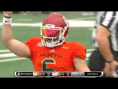 Every Baker Mayfield play @ 2018 Senior Bowl