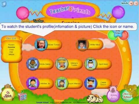 02: JnP kindergarten photo & activity album class & student selection page view