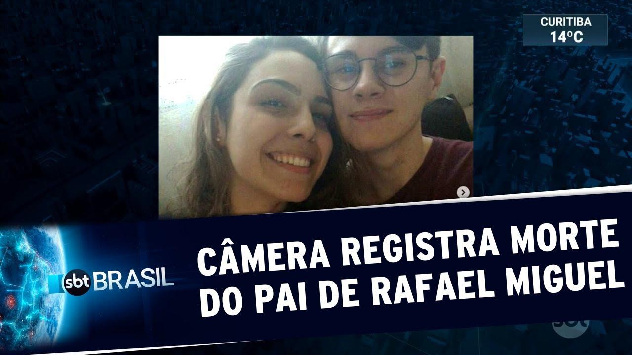 Câmera flagra momento em que pai do ator Rafael Miguel é assassinado | SBT Brasil (11/06/19)
