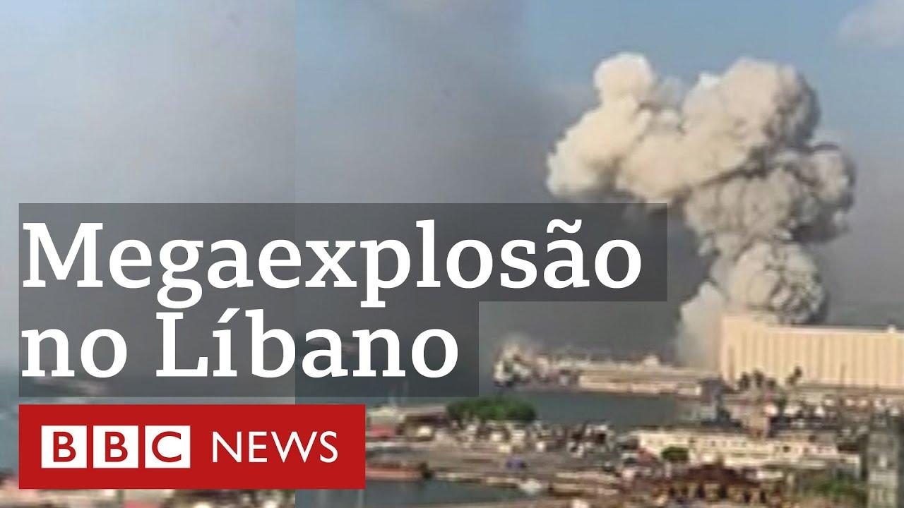 Megaexplosão lança 'nuvem cogumelo' sobre o céu de Beirute, no Líbano; veja
