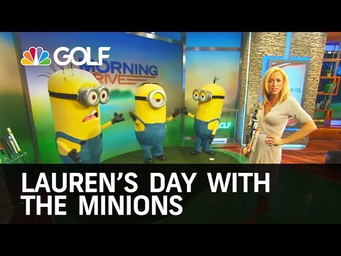 Lauren's Day with the Minions   Golf Channel