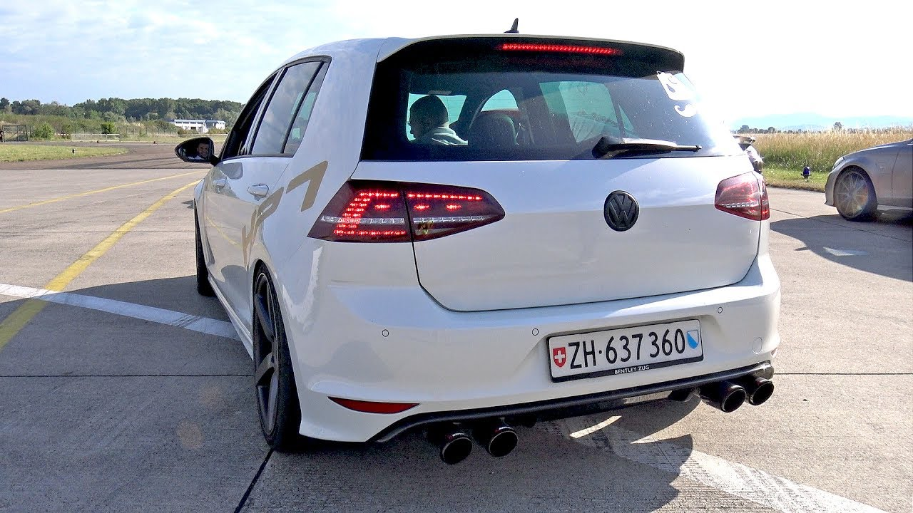 Volkswagen Golf 7 R Hpt Stage 2 W Akrapovic Exhaust System Youtube
