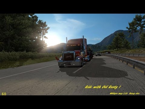 American Truck Simulator:  #505 Freight Liner Classic XL  hauling Cars  MHApro Map 1 28