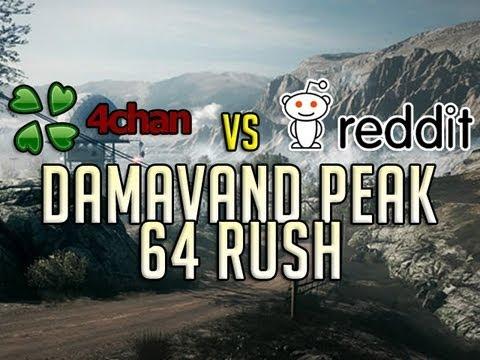 reddit vs 4chan battlefield 3 64 players damavand peak rush youtube