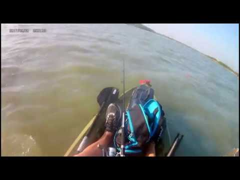 Kayak fishing for black drum in Baffin Bay