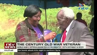 World War II veteran Kiana Gikuhi celebrates 100th birthday in Nyeri
