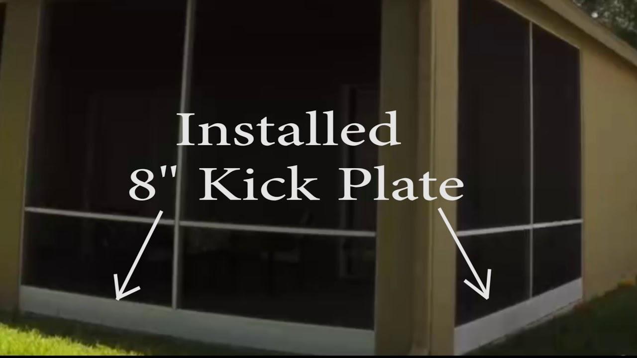 patio screen repair and kick plate install with mr screen repair