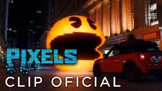 PIXELS. Persiguiendo a Pac-Man. Ya en cines
