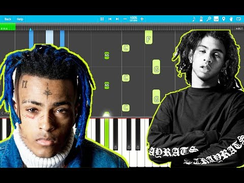 Robb Bank$ – Bad Vibes Forever Piano Tutorial EASY (XXXTentacion Tribute) (Piano Cover)