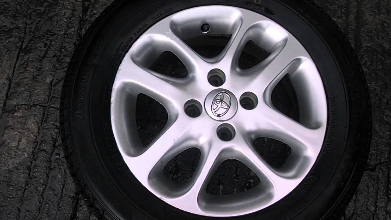 Toyota Yaris 4 Stud 14 Inch Alloy Wheel And Tyre Pcd 4x100
